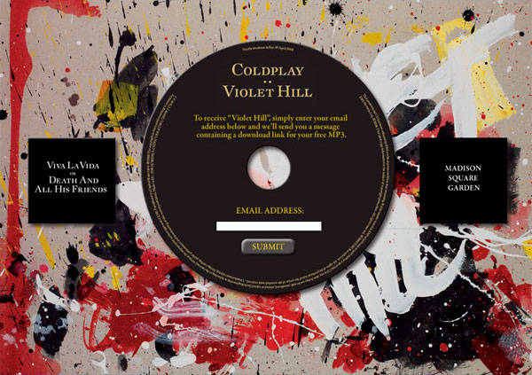 Coldplay - Viva La Vida Website