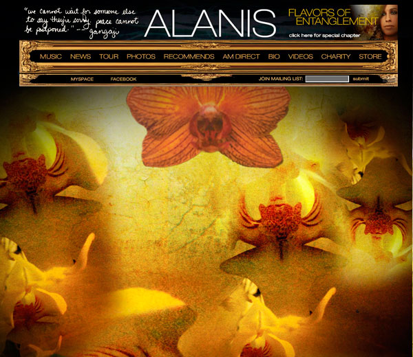 Alanis Morissette - Flavors of Entanglement Website