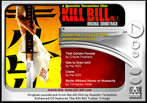 Kill Bill Media Player