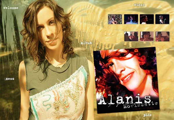Alanis Morissette - So Called Chaos Website