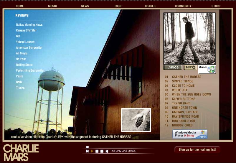 Charlie Mars - Charlie Mars Website