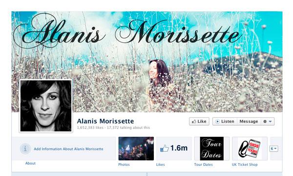Alanis Morissette: FaceBook