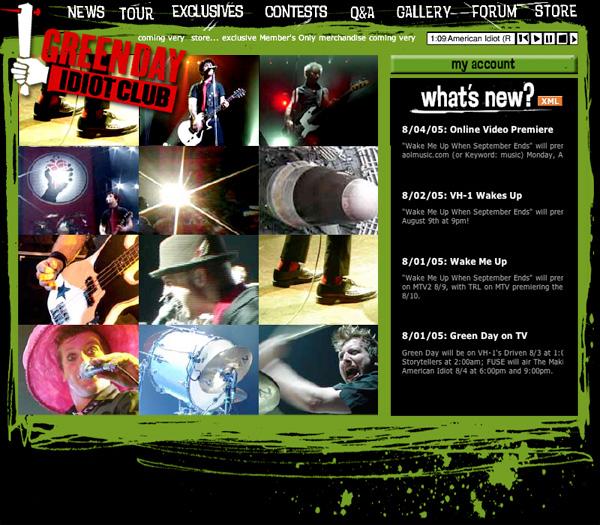 Green Day - Idiot Club Fanclub Site