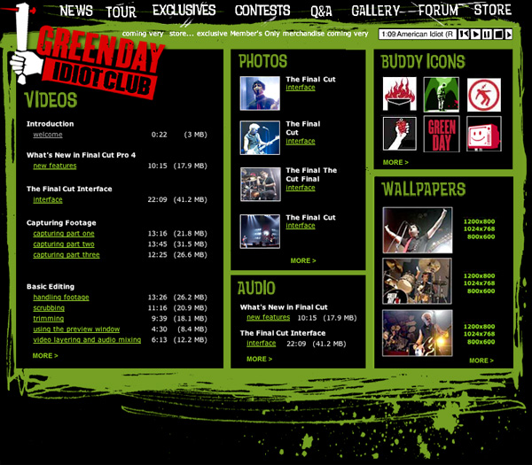 Green Day - Idiot Club Fanclub Site