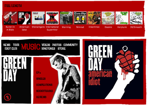Green Day - American Idiot Website