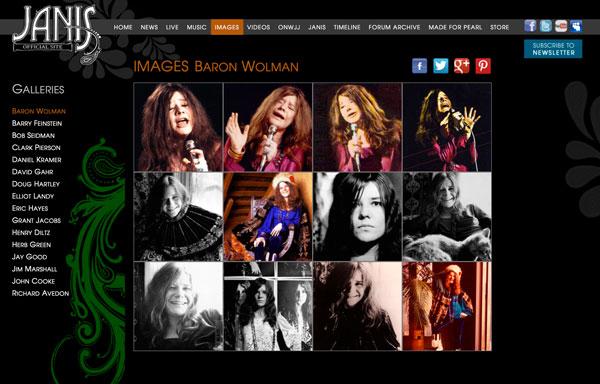 Janis Joplin - Website