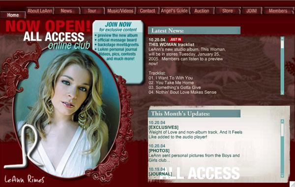LeAnn Rimes - Website