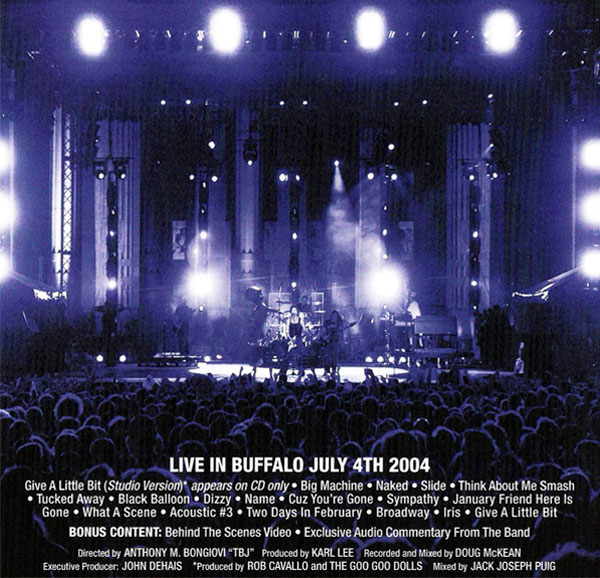 Goo Goo Dolls - Live In Buffalo Artwork