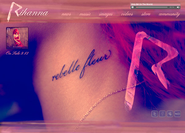 Rihanna - Loud Website