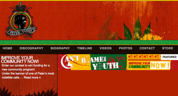 Peter Tosh Website