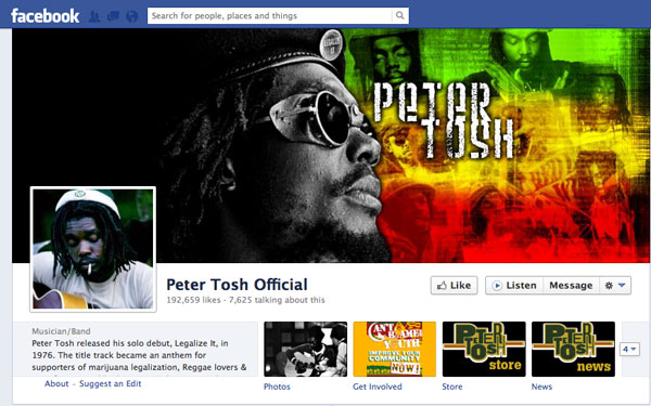 Peter Tosh Facebook