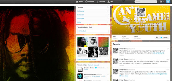 Peter Tosh Twitter