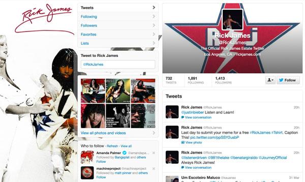 Rick James - Twitter