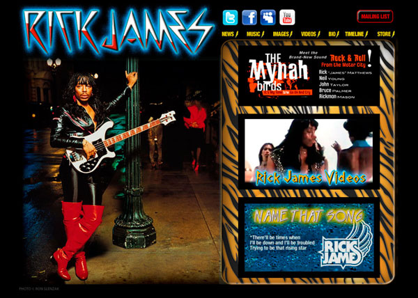 Rick James - Website