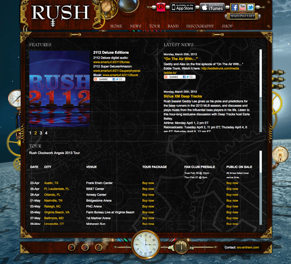 Rush: Website