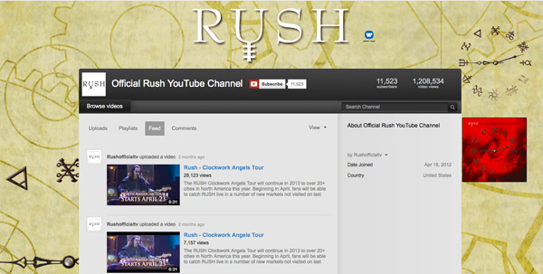 Rush: YouTube