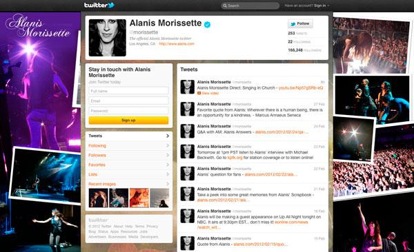 Alanis Morissette: Twitter