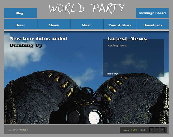World Party - Dumbing Up Website